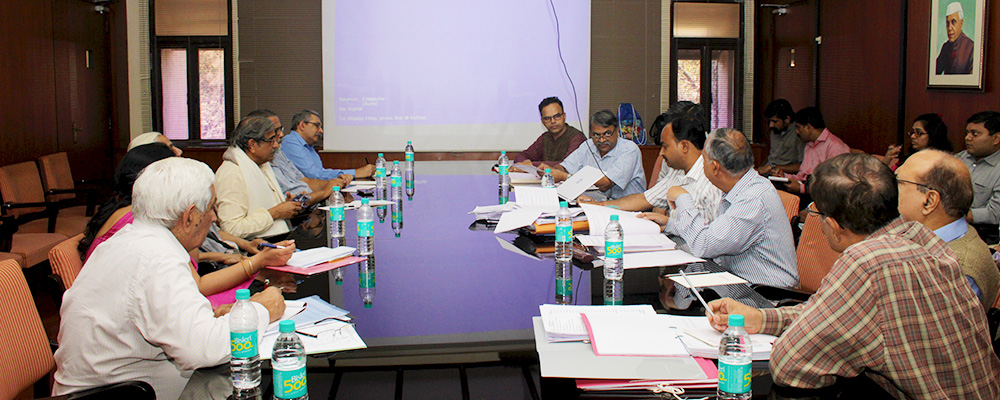 A review meeting on National Salt Satyagraha Memorial Project was held on 19th February 2015 at IIT Bombay. SSA Architects from Mumbai and IITB team presented the work for review. Ms. Bandana Sharma, Director & Shri. J. P. Sharma, Deputy Director of Ministry of Culture also were present along with officials from CPWD (Ahmedabad). It was attended by various members of High Level Dandi Memorial Committee (HLDMC) - Dr. Sudarshan Iyengar, (Vice-Chairman), Shri. Tushar Gandhi (Member), Smt. Dina Patel (Member).