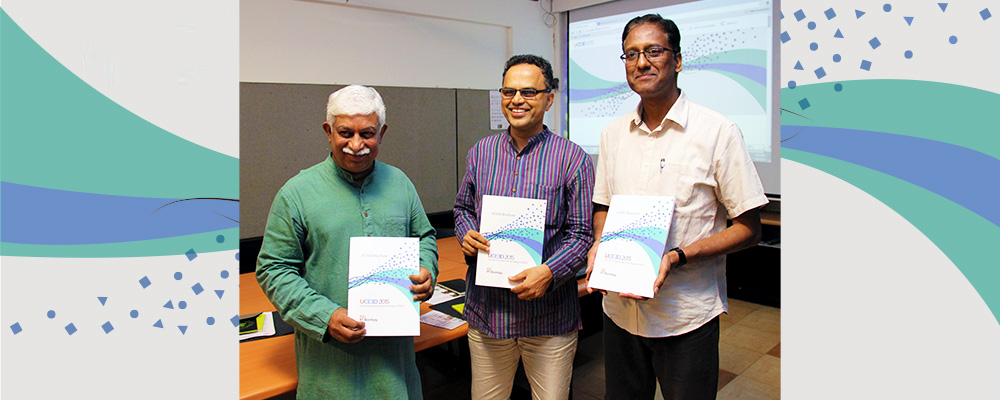 A press meet was held at IDC on 8th April 2015 for launch of B.Des programme. Prof. Chakravarthy, Prof. Ravi & Prof. Venkatesh  answered various queries regarding the admission procedure and criterion to apply for UCEED, the entrance test for B.Des.  Prof. Venkatesh highlighted the uniqueness of the programme which was open to students from all disciplines after the 12th grade (or equivalent).To know more visit www.uceed.in